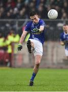 2 December 2018; Shane Carey of Scotstown kicks to score a point during the AIB Ulster GAA Football Senior Club Championship Final match between Gaoth Dobhair and Scotstown at Healy Park in Tyrone. Photo by Oliver McVeigh/Sportsfile