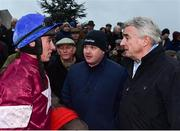 2 December 2018; Jack Kennedy with owner Michael O'Leary and trainer Gordon Elliott after winning the BARONERACING.COM Hatton's Grace Hurdle with Apple's Jade during the Sunday of the Fairyhouse Winter Festival at Fairyhouse Racecourse in Meath. Photo by Matt Browne/Sportsfile