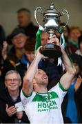 2 December 2018; Ballyhale Shamrocks captain Michael Fennelly lifts the cup after the AIB Leinster GAA Hurling Senior Club Championship Final match Ballyboden St Enda's and Ballyhale Shamrocks at Netwatch Cullen Park in Carlow. Photo by Piaras Ó Mídheach/Sportsfile