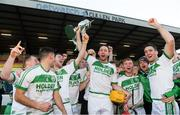 2 December 2018; Ballyhale Shamrocks captain Michael Fennelly and his team mates celebrate with the cup after the AIB Leinster GAA Hurling Senior Club Championship Final match Ballyboden St Enda's and Ballyhale Shamrocks at Netwatch Cullen Park in Carlow. Photo by Piaras Ó Mídheach/Sportsfile