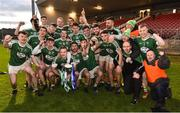 2 December 2018; The Gaoth Dobhair players celebrates with the Seamus McFerran cup after the AIB Ulster GAA Football Senior Club Championship Final match between Gaoth Dobhair and Scotstown at Healy Park in Tyrone. Photo by Oliver McVeigh/Sportsfile