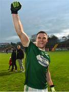 2 December 2018; Kevin Cassidy of Gaoth Dobhair celebrates after the AIB Ulster GAA Football Senior Club Championship Final match between Gaoth Dobhair and Scotstown at Healy Park in Tyrone. Photo by Oliver McVeigh/Sportsfile