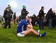2 December 2018; A dejected Jamie McCarey of Scotstown after the AIB Ulster GAA Football Senior Club Championship Final match between Gaoth Dobhair and Scotstown at Healy Park in Tyrone. Photo by Oliver McVeigh/Sportsfile