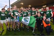 2 December 2018; Gaoth Dobhair players celebrate the Seamus McFerran cup after the AIB Ulster GAA Football Senior Club Championship Final match between Gaoth Dobhair and Scotstown at Healy Park in Tyrone. Photo by Oliver McVeigh/Sportsfile