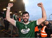 2 December 2018; Odhran MacNaillais of Gaoth Dobhair celebrates after the AIB Ulster GAA Football Senior Club Championship Final match between Gaoth Dobhair and Scotstown at Healy Park in Tyrone. Photo by Oliver McVeigh/Sportsfile
