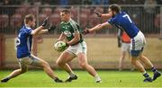 2 December 2018; Kevin Cassidy of Gaoth Dobhair in action against Donal Morgan and Emmet Caulfield of Scotstown during the AIB Ulster GAA Football Senior Club Championship Final match between Gaoth Dobhair and Scotstown at Healy Park in Tyrone. Photo by Oliver McVeigh/Sportsfile