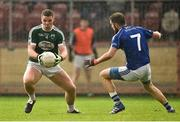 2 December 2018; Kevin Cassidy of Gaoth Dobhair in action against Emmet Caulfield of Scotstown during the AIB Ulster GAA Football Senior Club Championship Final match between Gaoth Dobhair and Scotstown at Healy Park in Tyrone. Photo by Oliver McVeigh/Sportsfile