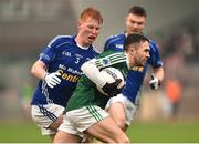 2 December 2018; Cian Mulligan of Gaoth Dobhair in action against Ryan O'Toole of Scotstown during the AIB Ulster GAA Football Senior Club Championship Final match between Gaoth Dobhair and Scotstown at Healy Park in Tyrone. Photo by Oliver McVeigh/Sportsfile