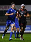 1 December 2018; Caelan Doris of Leinster during the Guinness PRO14 Round 10 match between Dragons and Leinster at Rodney Parade in Newport, Wales. Photo by Ramsey Cardy/Sportsfile