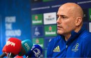 3 December 2018; Backs coach Felipe Contepomi during a Leinster Rugby press conference at Leinster Rugby Headquarters in Dublin. Photo by Ramsey Cardy/Sportsfile