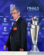 3 December 2018; Portugal head coach Fernando Santos arrives for the UEFA Nations League Finals Draw at The Shelbourne Hotel in Dublin. Photo by Stephen McCarthy/Sportsfile