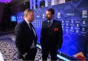 3 December 2018; Netherlands manager Ronald Koeman, left, and England head coach Gareth Southgate following the UEFA Nations League Finals Draw at The Shelbourne Hotel in Dublin. Photo by Stephen McCarthy/Sportsfile