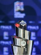 3 December 2018; The UEFA Nations League trophy prior to the UEFA Nations League Finals Draw at The Shelbourne Hotel in Dublin. Photo by Stephen McCarthy/Sportsfile
