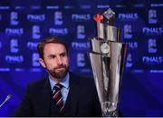 3 December 2018; England head coach Gareth Southgate during a press conference following the UEFA Nations League Finals Draw at The Shelbourne Hotel in Dublin. Photo by Stephen McCarthy/Sportsfile