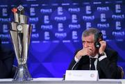 3 December 2018; Portugal head coach Fernando Santos during a press conference following the UEFA Nations League Finals Draw at The Shelbourne Hotel in Dublin. Photo by Stephen McCarthy/Sportsfile
