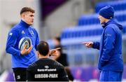 3 December 2018; Garry Ringrose, left, in conversation with backs coach Felipe Contepomi during Leinster Rugby squad training at Energia Park in Donnybrook, Dublin. Photo by Ramsey Cardy/Sportsfile