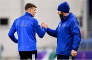 3 December 2018; Garry Ringrose, left, and Contact skills coach Hugh Hogan during Leinster Rugby squad training at Energia Park in Donnybrook, Dublin. Photo by Ramsey Cardy/Sportsfile