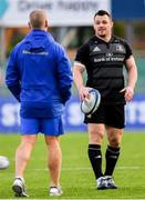 3 December 2018; Cian Healy, right, and senior coach Stuart Lancaster during Leinster Rugby squad training at Energia Park in Donnybrook, Dublin. Photo by Ramsey Cardy/Sportsfile