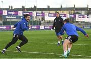 3 December 2018; James Lowe, left, and Luke McGrath during Leinster Rugby squad training at Energia Park in Donnybrook, Dublin. Photo by Ramsey Cardy/Sportsfile