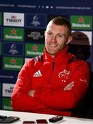 4 December 2018; Keith Earls during a Munster Rugby press conference at the University of Limerick in Limerick. Photo by Diarmuid Greene/Sportsfile