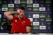 4 December 2018; Peter O'Mahony during a Munster Rugby press conference at the University of Limerick in Limerick. Photo by Diarmuid Greene/Sportsfile