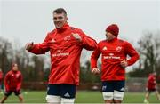 4 December 2018; Peter O'Mahony and CJ Stander during Munster Rugby squad training at the University of Limerick in Limerick. Photo by Diarmuid Greene/Sportsfile