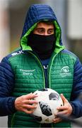 4 December 2018; Tiernan O'Halloran during Connacht Rugby squad training at the Sportsground in Galway. Photo by Sam Barnes/Sportsfile