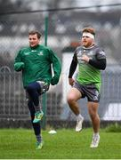 4 December 2018; Finlay Bealham, right, during Connacht Rugby squad training at the Sportsground in Galway. Photo by Sam Barnes/Sportsfile