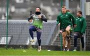 4 December 2018; Denis Buckley, left,  during Connacht Rugby squad training at the Sportsground in Galway. Photo by Sam Barnes/Sportsfile