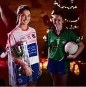4 December 2018; Captains, Sarah Murphy of Clontarf, left, with the Ladies All-Ireland Intermediate Club Trophy and Nicole Rooney of Emmet Óg during the 2018 All-Ireland Ladies Club Football Finals Captains Day at Croke Park in Dublin. Photo by David Fitzgerald/Sportsfile