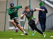 4 December 2018; Eoin Griffin, right, during Connacht Rugby squad training at the Sportsground in Galway. Photo by Sam Barnes/Sportsfile