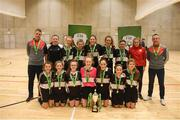 4 December 2018; St. Attracta's Community School, Tubbercurry, Sligo players with the cup after the Post-Primary Schools National Futsal Finals at Waterford IT Sports Arena in Waterford. Photo by Eóin Noonan/Sportsfile