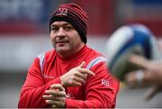 6 December 2018; Rory Best during the Ulster Rugby Captain's Run at the Kingspan Stadium in Belfast. Photo by Oliver McVeigh/Sportsfile