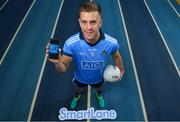 "6 December 2018; Dublin footballer Jonny Cooper was at the National Sports Campus today to launch AIG's ""try before you buy"" SmartLane driving app, which gives good drivers up to 20% off their car insurance. Simply download the AIG SmartLane app to take part in the SmartLane driving challenge and you could win some great prizes including Dublin GAA jerseys and One4all vouchers. Go to www.aig.ie/smartlane  to find out more or visit the Android or iOS App store. Photo by Brendan Moran/Sportsfile"