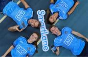 "6 December 2018; Dublin players, clockwise from bottom left, Lauren Magee, Jonny Cooper, Ali Twomey and Jake Malone were at the National Sports Campus today to launch AIG's ""try before you buy"" SmartLane driving app, which gives good drivers up to 20% off their car insurance. Simply download the AIG SmartLane app to take part in the SmartLane driving challenge and you could win some great prizes including Dublin GAA jerseys and One4all vouchers. Go to www.aig.ie/smartlane  to find out more or visit the Android or iOS App store. Photo by Brendan Moran/Sportsfile"