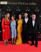 1 December 2018; Sinead Goldrick of Dublin and David Treacy with her family, from left, Tara, Mary and Seamus during the TG4 Ladies Football All Stars Awards 2018, in association with Lidl, at the Citywest Hotel in Dublin. Photo by Brendan Moran/Sportsfile