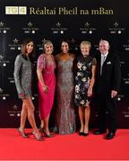 1 December 2018; Aislinn Desmond of Kerry with her family, from left, Mairead, Caitriona, Judy and Denis Desmond during the TG4 Ladies Football All Stars Awards 2018, in association with Lidl, at the Citywest Hotel in Dublin. Photo by Brendan Moran/Sportsfile