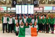 7 December 2018; The Ireland Team pictured at Dublin Airport prior to departing for the European Cross Country in Beekse Bergen Safari Park in Tilburg, Netherlands. Photo by Sam Barnes/Sportsfile