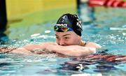 7 December 2018; Mona McSharry of Marlins after breaking the Irish record in the heats of the Women's 100m freestyle event during the Friday of the Irish Short Course Swimming Championships at Lagan Valley Leisureplex in Antrim. Photo by Oliver McVeigh/Sportsfile