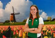 7 December 2018; Sarah Healy of Ireland pictured at Eindhoven Airport en route to the European Cross Country in Beekse Bergen Safari Park in Tilburg, Netherlands. Photo by Sam Barnes/Sportsfile
