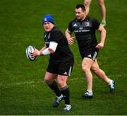 7 December 2018; Tadhg Furlong, left, and Cian Healy during the Leinster Rugby captain's run at the Recreation Ground in Bath, England. Photo by Ramsey Cardy/Sportsfile