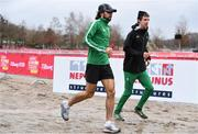 8 December 2018; Mick Clohisey, left, and Damien Landers of Ireland, during the European Cross Country Previews at Beekse Bergen Safari Park in Tilburg, Netherlands. Photo by Sam Barnes/Sportsfile