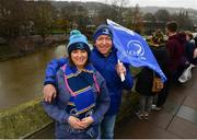 8 December 2018; Leinster supporters Brenda and Darragh O'Keeffe, from Maynooth, Co Kildare, prior to the European Rugby Champions Cup Pool 1 Round 3 match between Bath and Leinster at the Recreation Ground in Bath, England. Photo by Ramsey Cardy/Sportsfile