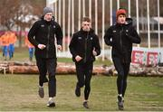 8 December 2018; Ireland athletes, from left, Sean O'Leary, Daire Finn and Fintan Stewart during the European Cross Country Previews at Beekse Bergen Safari Park in Tilburg, Netherlands. Photo by Sam Barnes/Sportsfile