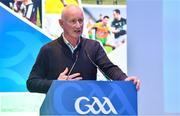 8 December 2018; Kilkenny manager Brian Cody speaking during the National GAA Club Forum at Croke Park in Dublin. Photo by Brendan Moran/Sportsfile