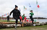 8 December 2018; Ireland Women's U20 athletes, from left, Emma O'Brien, Sophie O'Sullivan and Jodie McCann during the European Cross Country Previews at Beekse Bergen Safari Park in Tilburg, Netherlands. Photo by Sam Barnes/Sportsfile