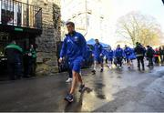 8 December 2018; Josh van der Flier of Leinster arrives prior to the European Rugby Champions Cup Pool 1 Round 3 match between Bath and Leinster at the Recreation Ground in Bath, England. Photo by Ramsey Cardy/Sportsfile