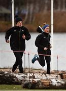 8 December 2018; Emma O'Brien, left, and Sarah Healy of Ireland during the European Cross Country Previews at Beekse Bergen Safari Park in Tilburg, Netherlands. Photo by Sam Barnes/Sportsfile