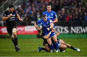 8 December 2018; Seán Cronin of Leinster is tackled by James Wilson, left, and Jamie Roberts of Bath during the European Rugby Champions Cup Pool 1 Round 3 match between Bath and Leinster at the Recreation Ground in Bath, England. Photo by Ramsey Cardy/Sportsfile