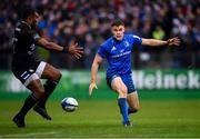 8 December 2018; Garry Ringrose of Leinster in action against Joe Cokanasiga of Bath during the European Rugby Champions Cup Pool 1 Round 3 match between Bath and Leinster at the Recreation Ground in Bath, England. Photo by Ramsey Cardy/Sportsfile
